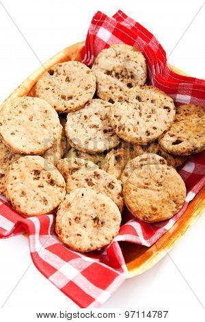 Homemade Biscuits With Mushrooms