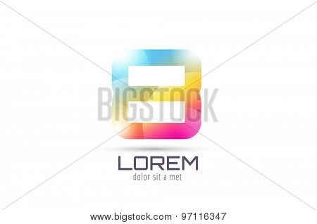 Vector 8 logo template. Abstract arrow shape and symbol, icon, text or creative, idea, flow. Stock illustration. Isolated on white background.