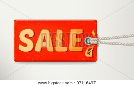 Sale Tag Design. Vector