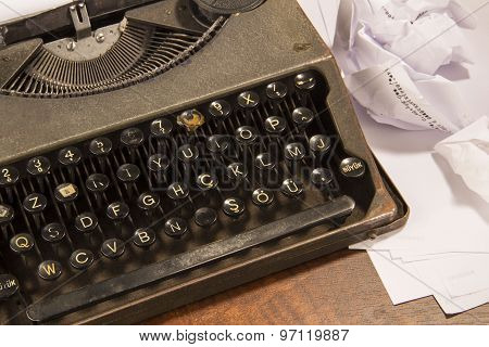Typewriter And Paper