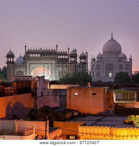 Taj Mahal At Night, Agra, India