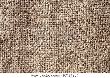 Natural sackcloth, Fabric Jute Texture Pattern Closeup, textured for background.