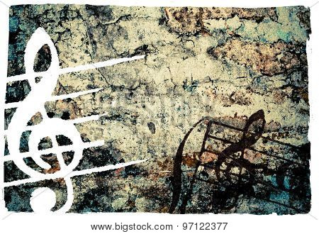 Abstract grunge melody textures and backgrounds - perfect background with space for text or image
