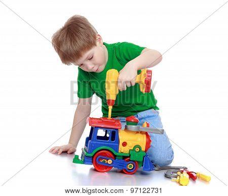 Boy toy repairs