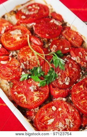 Tomato And Rice Casserole