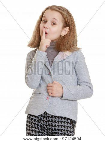 Stylish girl gesticulating