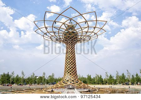 The Tree Of Life At Expo 2015 in Milan, Italy