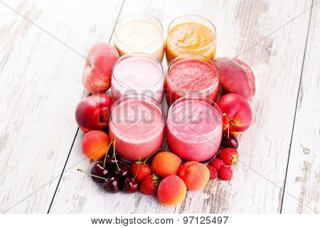 homemade fruity smoothies - food and drink