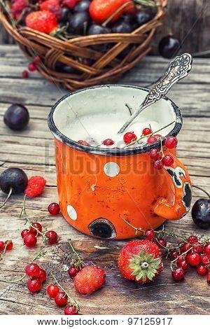 Ice Cream With Fresh Fruit