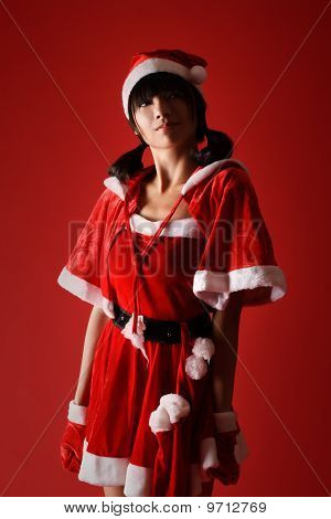 Confident Christmas Girl