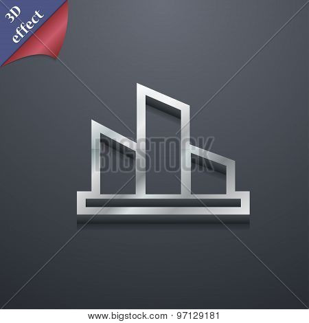 Diagram Icon Symbol. 3D Style. Trendy, Modern Design With Space For Your Text Vector
