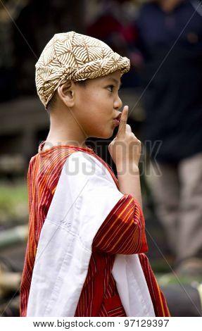 Young Indonesian Boy Saying Shh