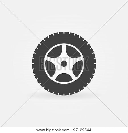 Car wheel icon or logo