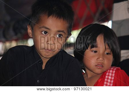 Portrait Of A Young Brother And Sister