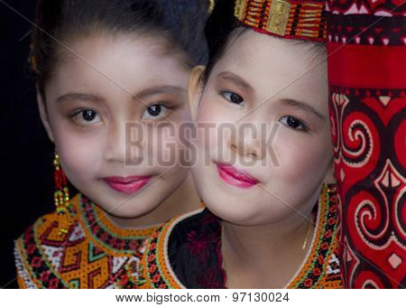 Portrait Of Two Beautiful Torajan Girls