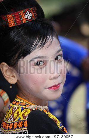 Portrait Of A Beautiful Torajan Girl