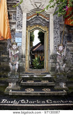 Entrance Door For The Ubud Bodyworks Healing Centre