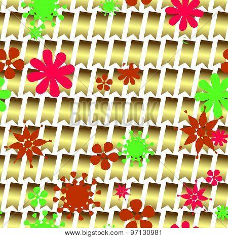 Seamless Decorative Pattern Of Flowers