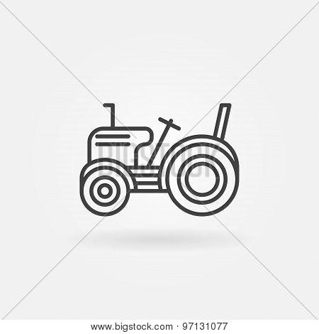 Mini tractor icon