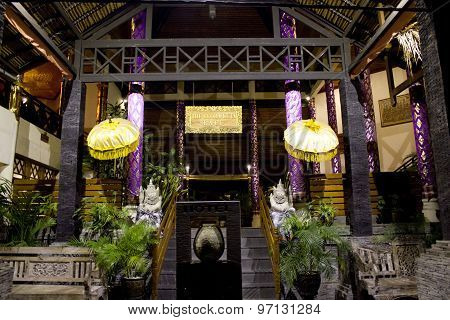 Entrance Of The Flora Hotel In Kuta