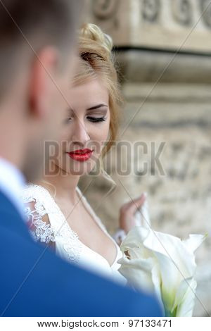 Bride And Bridegroom Outdoor
