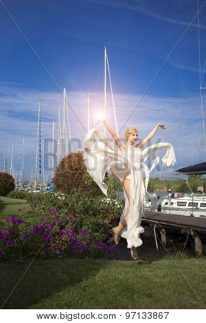 Attractive Bride In Yacht Club