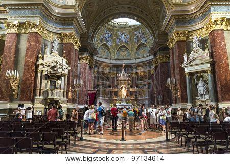 St. Stephen's Basilica Interior, Budapest, Hungary