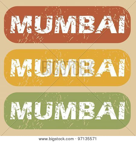 Vintage Mumbai stamp set