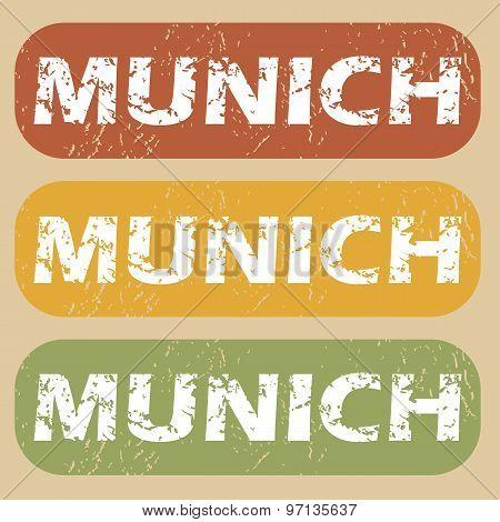 Vintage Munich stamp set