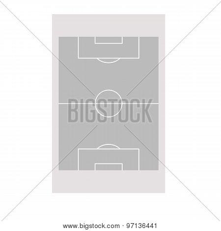 grey soccer or football field