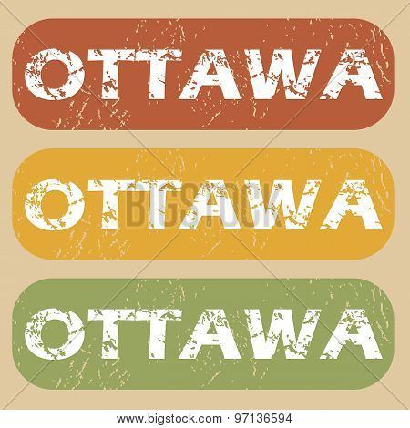 Vintage Ottawa stamp set
