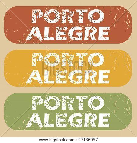 Vintage Porto Alegre stamp set