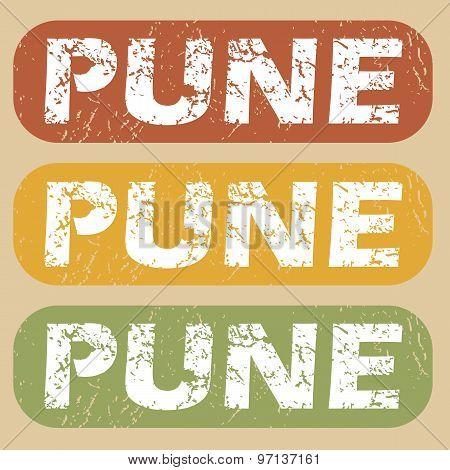 Vintage Pune stamp set