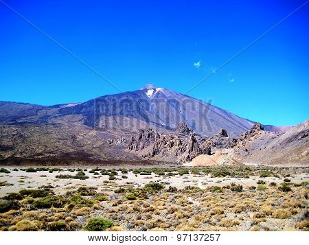 Panorama of Mount Teide (Tenerife, Spain)