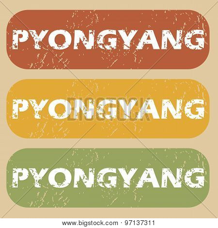 Vintage Pyongyang stamp set