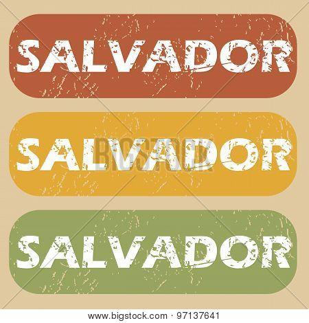 Vintage Salvador stamp set