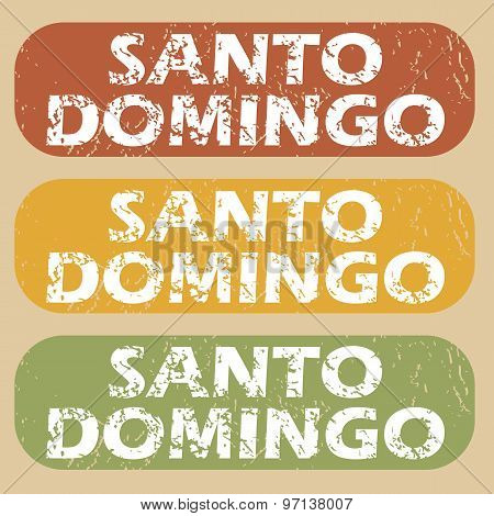 Vintage Santo Domingo stamp set