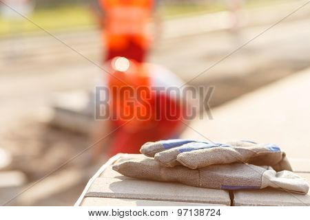 Close-up Of Work Gloves