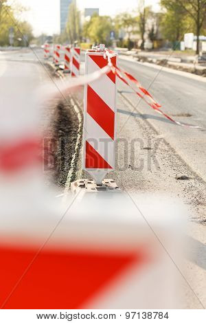 Road Construction On City Street