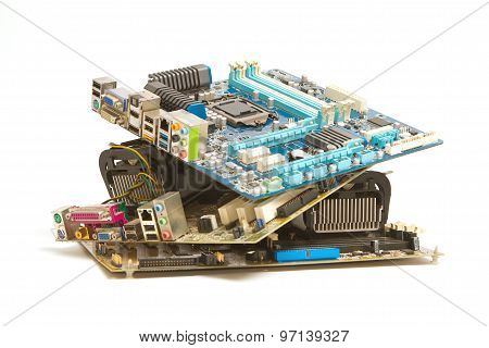 Pile Of Mainboard Computer