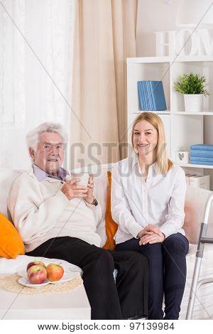 Senior Man And Carer