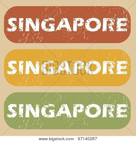 Vintage Singapore stamp set