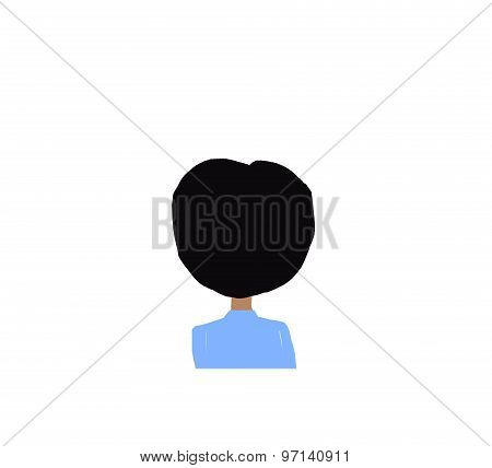 cartoon boy back head illustration