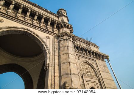 The Gateway of India, a monument built during the British Raj in Mumbai.