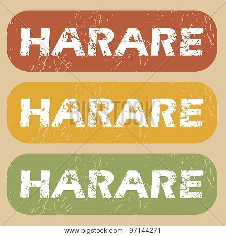 Vintage Harare stamp set