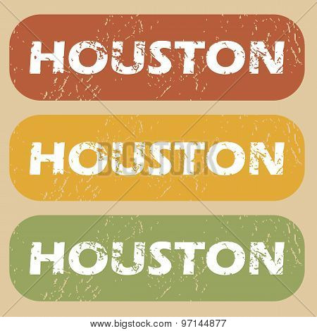 Vintage Houston stamp set