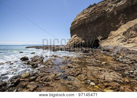 Tidal pools at Abalone Cove near Palos Verdes Estates in Los Angeles County, California.