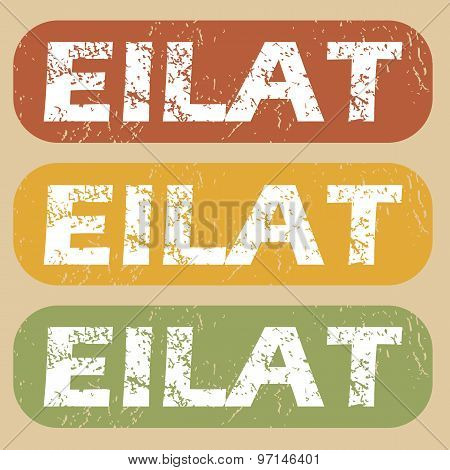 Vintage Eilat stamp set