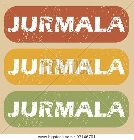 Vintage Jurmala stamp set