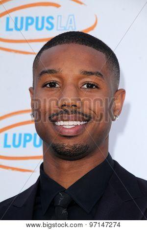 LOS ANGELES - JUN 6:  Michael B Jordan at the Lupus LA Orange Ball  at the Fox Studios on June 6, 2015 in Century City, CA